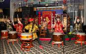 Шоу китайских барабанщиков на праздник в Москве