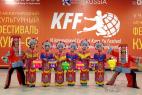 Коллектив китайских барабанщиков на открытии VI международного культурного фестиваля Кунг-Фу Москва!