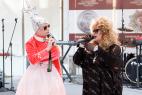 Двойник Верки Сердючки и Аллы Пугачёвой на праздник в Москве. Международный Евразийский форум 2016 года.