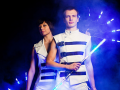Заказать световое неоновое шоу на праздник в Москве недорого.