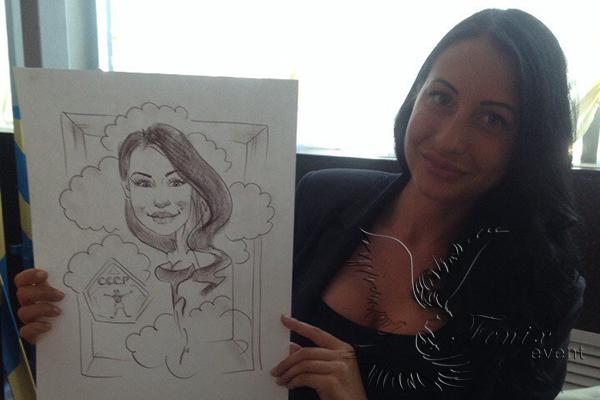 Художник шаржист на мероприятие в Москве
