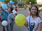 Праздничный флешмоб в Москве посвященный празднованию 71-й годовщины Победы в Великой отечественной войне.