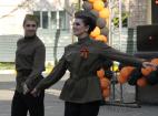 Празднование 71-й годовщины Победы в Великой отечественной войне, на сцене профессиональный хореографический коллектив в Москве.