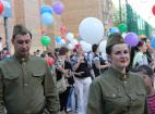 Празднование 71-й годовщины Победы в Великой отечественной войне - Москва. На сцене солисты государственного академического хора.