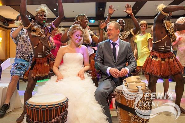 Шоу африканских барабанщиков на свадьбу Москва