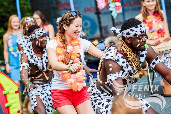 Шоу африканских барабанщиков заказать недорого в Москве