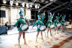 Шоу барабанщиц на встречу гостей в Москве. Церемония награждения почётных граждан стран Таможенного союза в Москве 13.12.2015