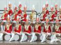 Мажоретки и барабанщицы в Москве на праздник