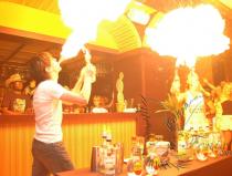 Огненное бармен шоу