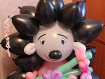 Фигуры животных из воздушных шаров