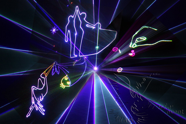 Лазерное шоу на свадьбу Москва