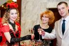Церемония награждения почётных граждан стран Таможенного союза в Москве 13 декабря 2015. Леди-фуршет на встречу гостей.