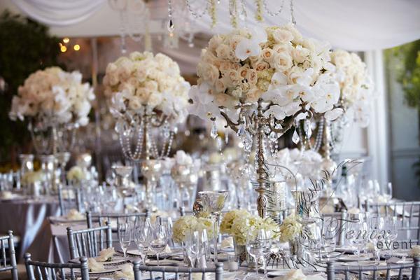 Украшение зала на свадьбу цветами