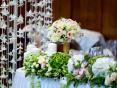 Оформление свадьбы живыми цветами в Москве