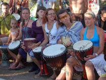 Корпоративный тимбилдинг с барабанами