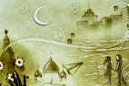 Песочное шоу в подарок на юбилей в Москве