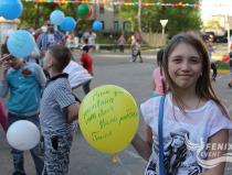 Праздничный флешмоб в Москве посвященный празднованию 71-й годовщины Победы в Великой отечественной войне
