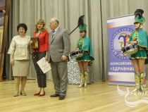 Ансамбль барабанщиц в Москве на Всероссийском форуме Здравница-2015