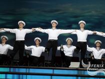 Московский театр танца Гжель на Фестивале в честь празднования 70-летия Победы над фашизмом во Второй мировой войне в Москве