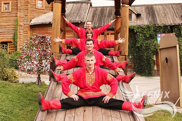 Русское акробатическое шоу на праздник, юбилей и корпоратив Москва