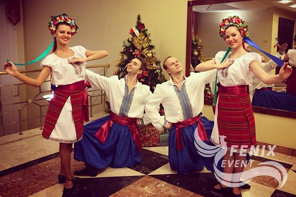Русский танцевальный коллектив на праздник Москва