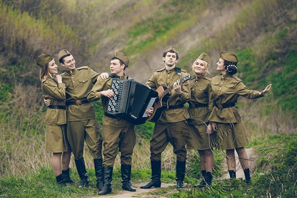 Русский ансамбль на 9 мая