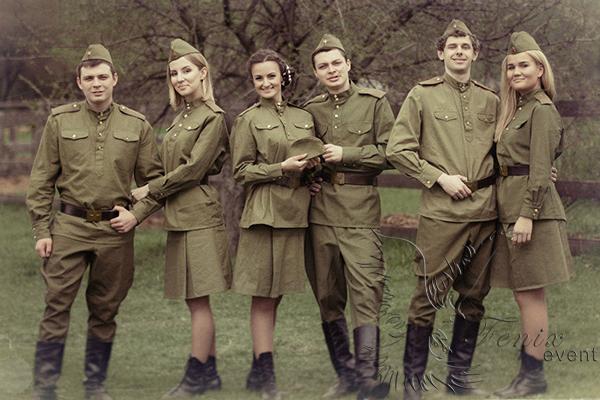 Военный ансамбль на 9 мая
