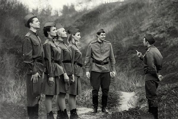 Военный ансамбль на День Победы