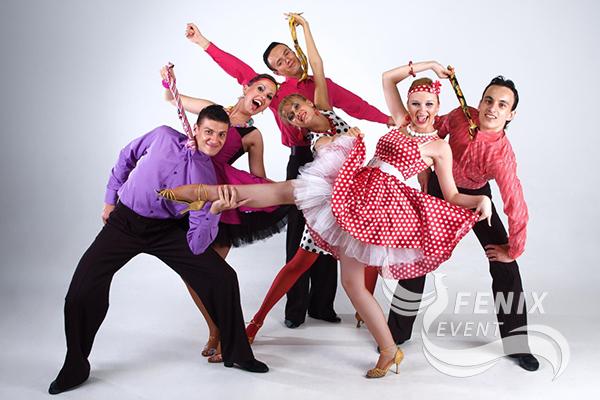 Шоу балет с номером Стиляги на праздник Москва