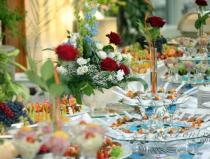 Свадебный банкет меню