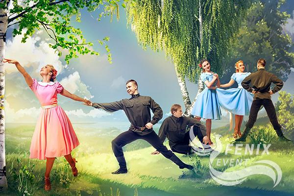 Заказать танцевальный коллектив с военной программой на праздник Москва