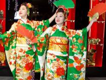 Заказать японский танец с веерами - осенний листопад Москва