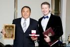 Ведущий на награждение в Москве почётных граждан стран Таможенного союза 13.12.2015.