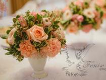 Оформление свадьбы букетами цветов
