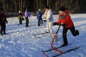 Спортивный зимний тимбилдинг на природе