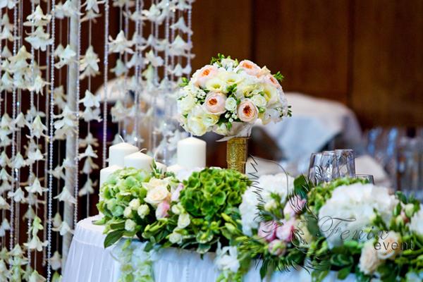 Оформление свадьбы живыми цветами недорого в Москве