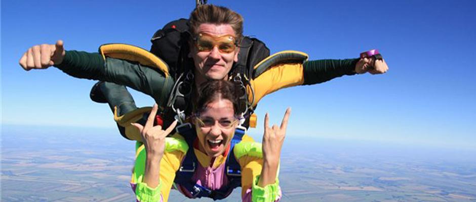 Необычный подарок на день рождения - прыжок с парашютом