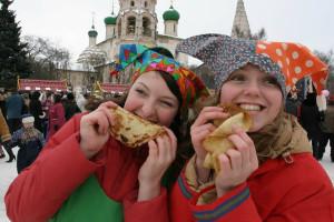 Весело отпраздновать масленицу в Москве. Проводы зимы.