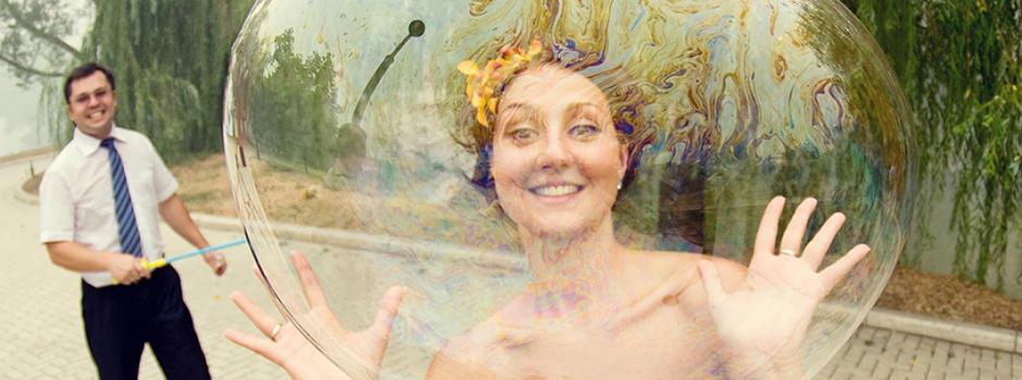 Шоу мыльных пузырей на свадьбу в Москве недорого