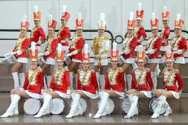 Ансамбль барабанщиц на 23 февраля Москва