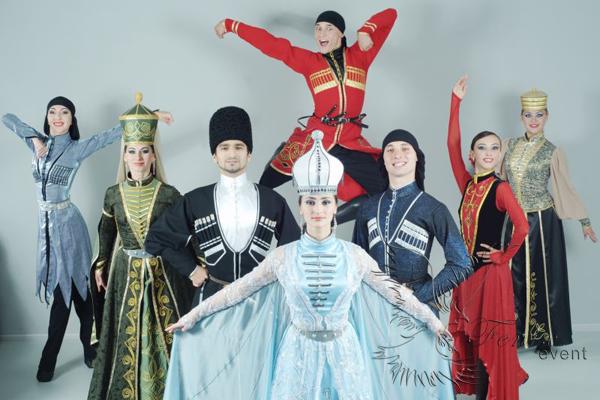 Кавказские ансамбли на праздник. Лезгинка на свадьбу в Москве недорого.