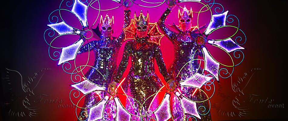 заказать световое шоу на праздник Москва