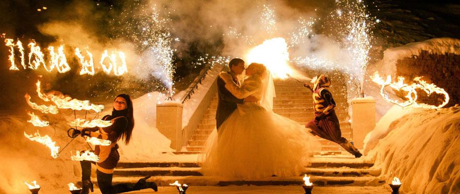 Заказать огненное фаер шоу на свадьбу, праздник, юбилей и корпоратив Москва