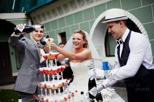 Бармен шоу на свадьбу в Москве