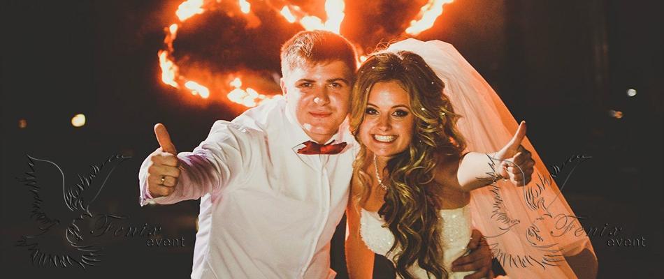 заказать огненное шоу на свадьбу москва