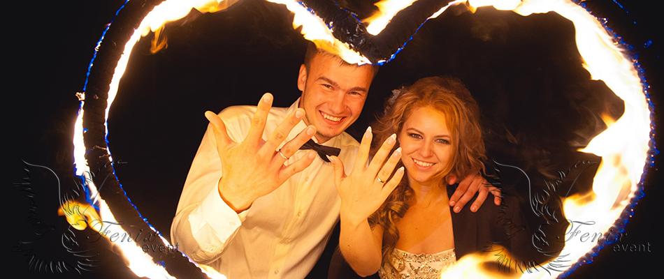 Огненное шоу на свадьбу заказать