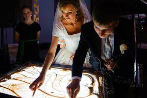 Заказать песочное шоу на свадьбу в Москве недорого!