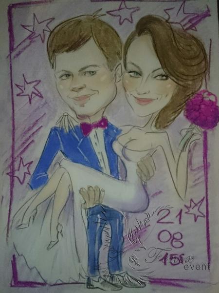 Профессиональный шаржист на свадьбу в Москве