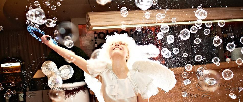 Шоу мыльных пузырей на корпоратив Москва