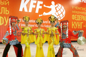Открытие Шестого международного фестиваля Кунг-Фу в Москве. Артисты на праздник.